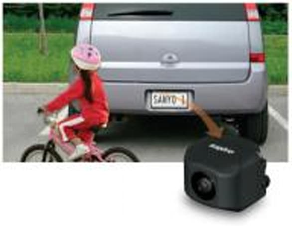 Sanyo's AirCam-equipped backup camera provides virtual views