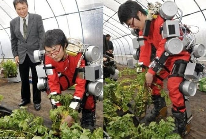 New robotic exoskeleton aims to help farmers combat age, mutant plants