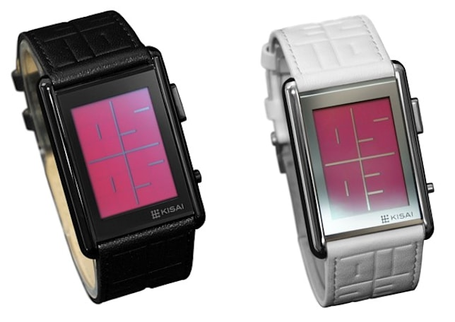 Kisai Stencil LCD watch keeps it vague, outlines the time (video)