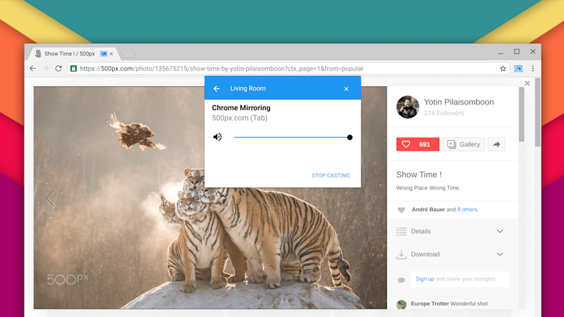 Google is working on extension-free tab Casting in Chrome