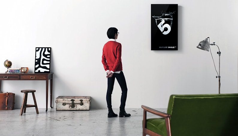 Framed gesture-controlled digital canvas debuts on Kickstarter, starting at $399