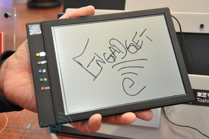 Toshiba Write-Erasable Input Display hands-on at SID 2011 (video)