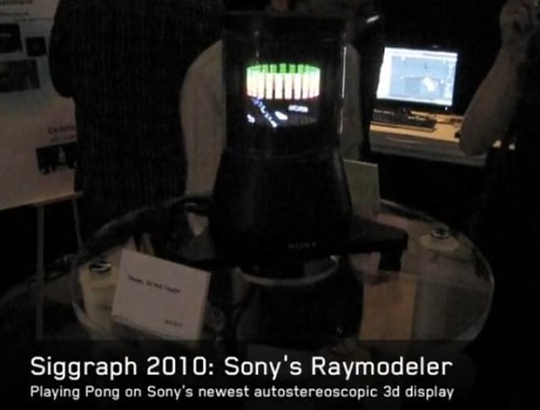 Sony's 360-degree RayModeler 3D display brings its glasses-free act to LA, plays Breakout (video)