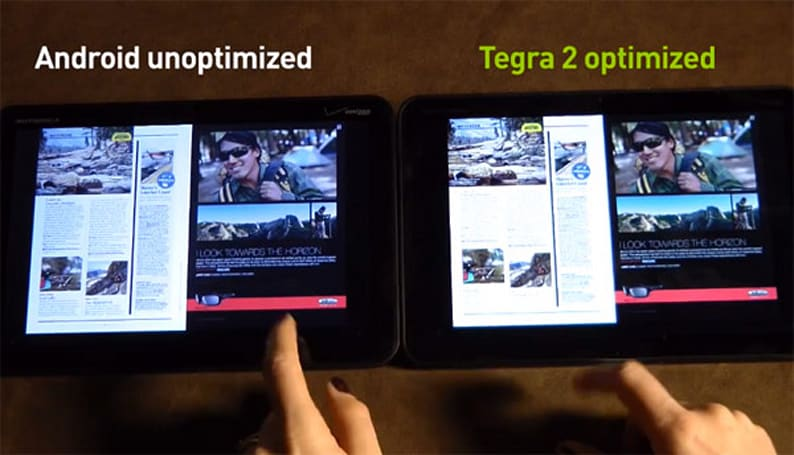 Zinio brings Tegra hardware acceleration to Honeycomb tablets