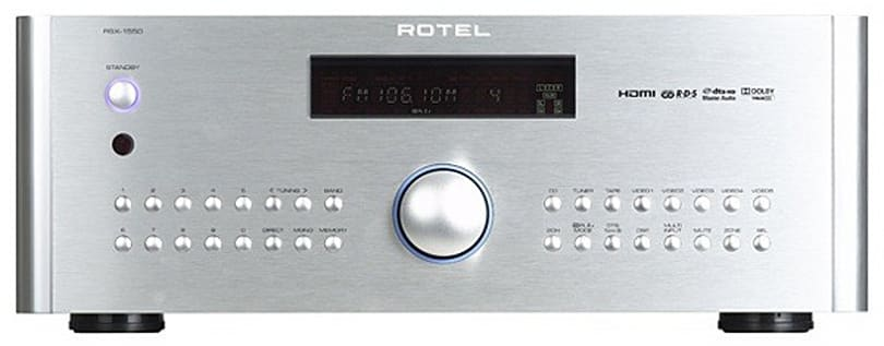 Rotel's RSX-1550 receiver -- great performance, but a bit pricey