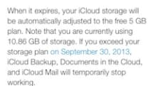 A friendly reminder to former MobileMe customers: Free storage upgrade ends September 30