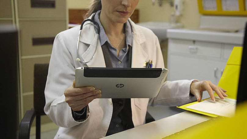 Unannounced HP tablet glimpsed in official picture (again), could be Slate 8