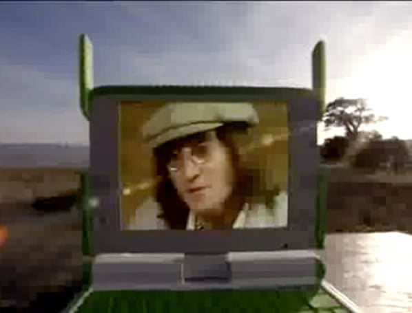 John Lennon eerily returns to push OLPC cause