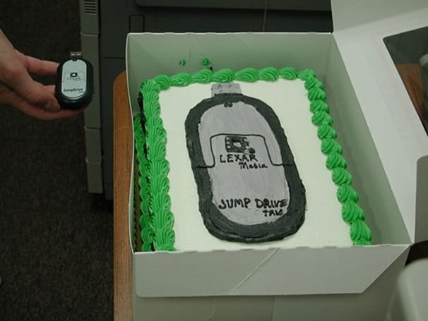 USB cake design worst birthday surprise in history
