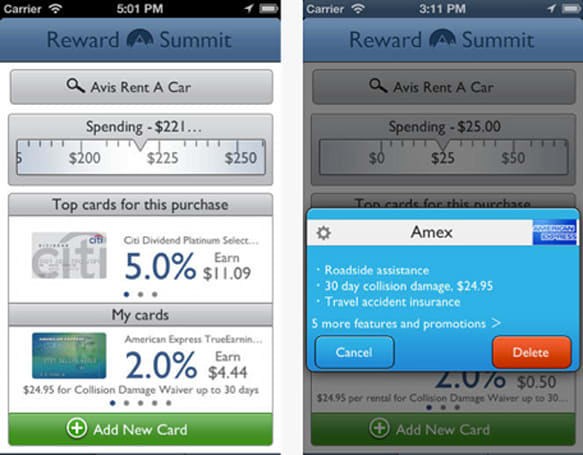 Reward Summit tracks your credit card reward programs so you don't have to