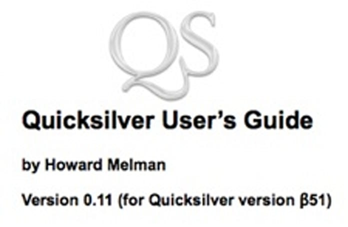 Melman Quicksilver User's Guide