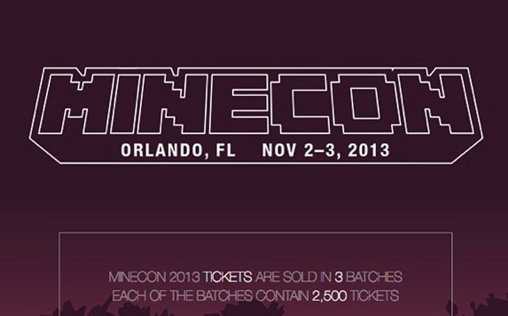 Minecon 2013 tickets on sale tonight at 7PM Eastern