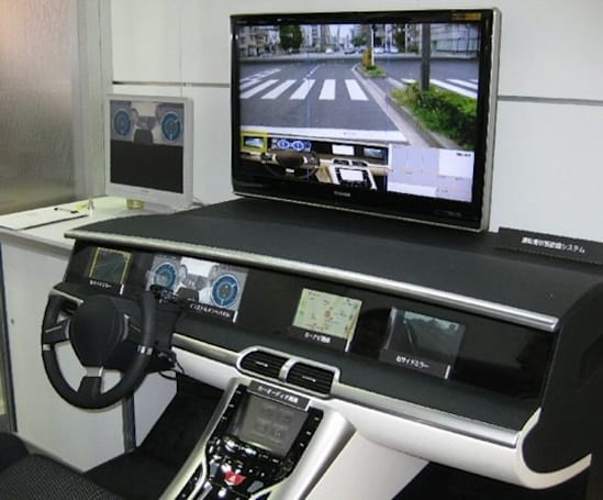 Toshiba shows off in-car facial recognition system