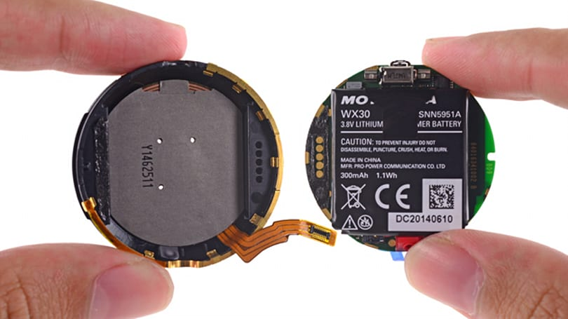 Moto 360 teardown reveals ancient chips, clever tech and a small battery