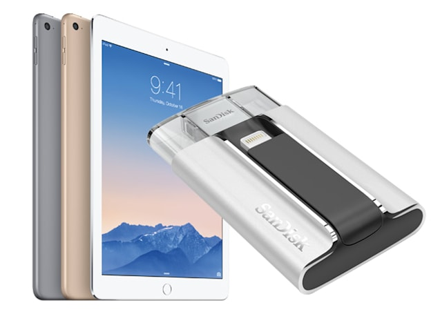 Engadget giveaway: win an iPad Air 2 and iXpand drive courtesy of SanDisk!