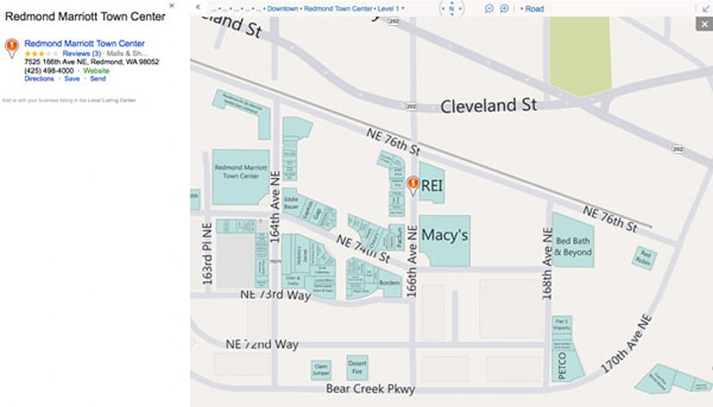 Bing's detailed mall directory maps improve Paul Blart's livelihood, should be on mobile