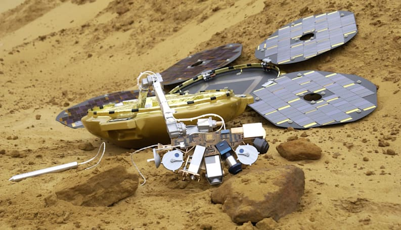 Scientists find Mars probe Beagle 2 intact a decade after it disappeared