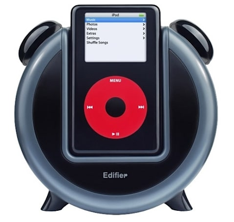 Edifier M0 iPod alarm clock comes with cartoon faces?