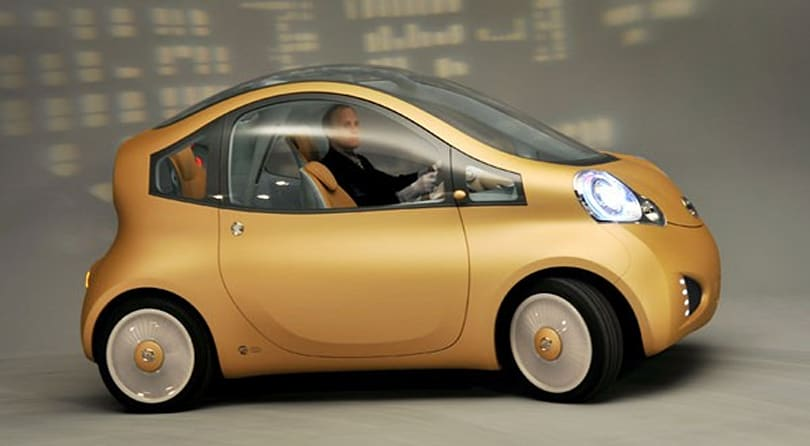 Nissan's Nuvu: electric, cartoonish