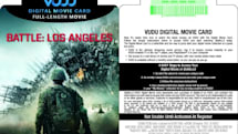 Vudu movie purchases get physical, starting with Battle: Los Angeles movie cards