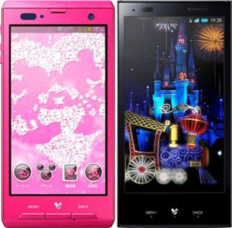 Disney Mobile on DoCoMo brand launches with two new Android phones in Japan