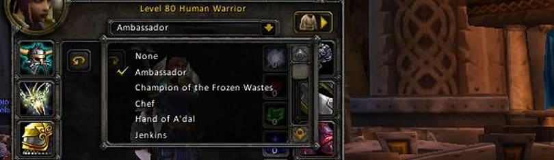 Get started collecting titles in WoW