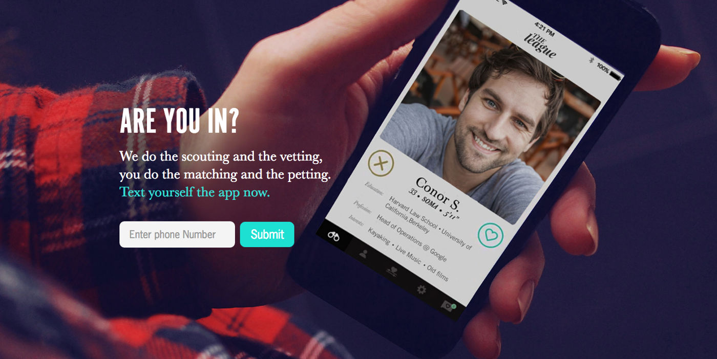 the league dating app twitter Apps like tinder and bumble have been known to be used more for hookups, allowing users to quickly swipe through profiles and make quick decisions so what do you do when you want an app to help you find a serious relationship that's the problem the dating app hinge hopes to solve.