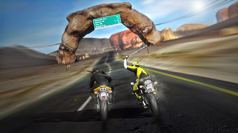 One-handed riding looks easy in Road Redemption alpha footage