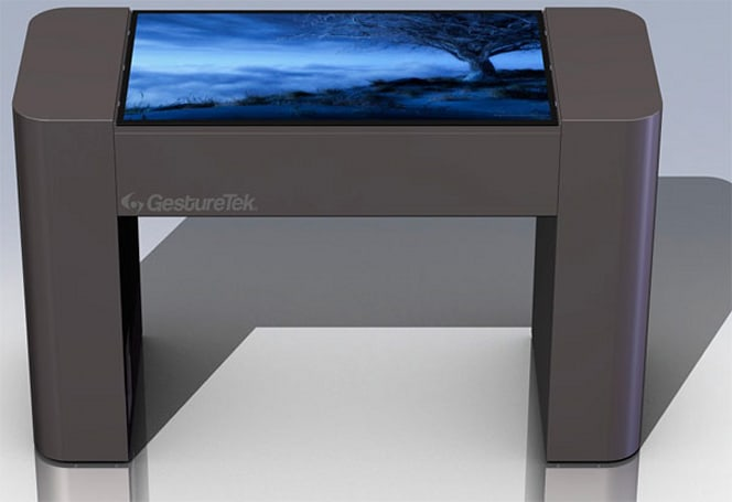 GestureTek intros 42-inch multitouch GestTable, your HDTV suddenly turns jealous