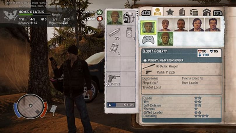 State of Decay's character development detailed