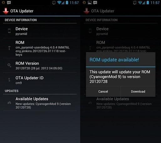 OTA Update Center encourages PC-free upgrades for custom Android ROMs