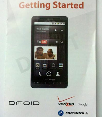 Mystery Motorola Droid (Shadow?) spotted with Verizon branding, set to be starting somethin'