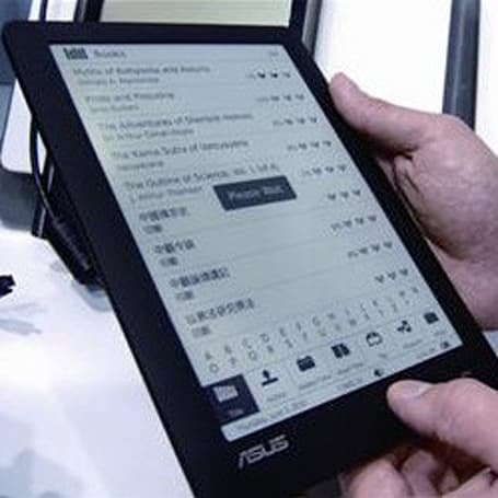 ASUS planning an 8-inch grayscale LCD e-reader for October, pricing expected 'under $599'