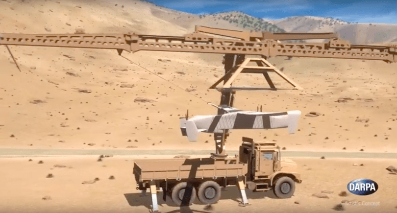 DARPA's SideArm system snares drones from mid-air