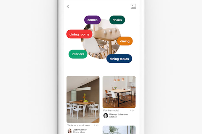 Pinterest uses AI and your camera to recommend pins