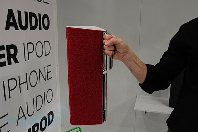 Libratone Beats wireless speakers begin playing when you enter the room