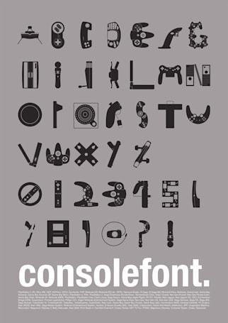 The Console Font sits at the crossroads of your typographic and gaming passions