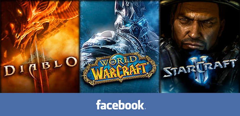 Blizzard properties now on Facebook