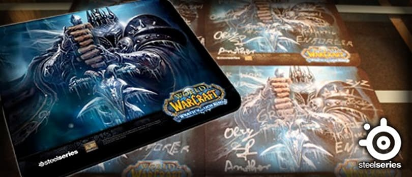 SteelSeries giving away Wrath mouse pads signed by WarCraft pro-gamers