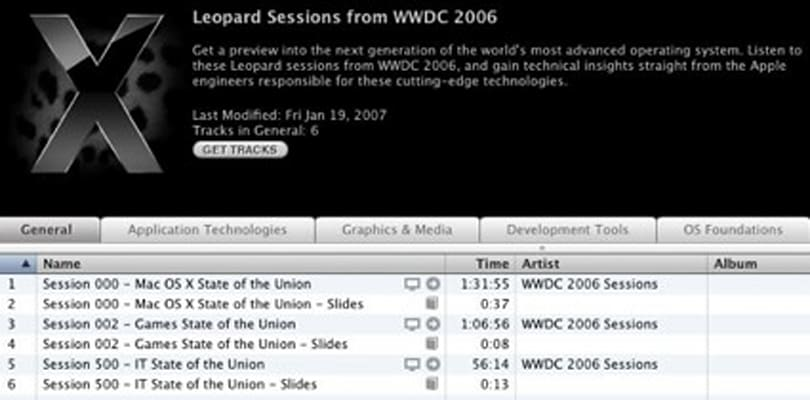 WWDC sessions available to all ADC members on iTunes