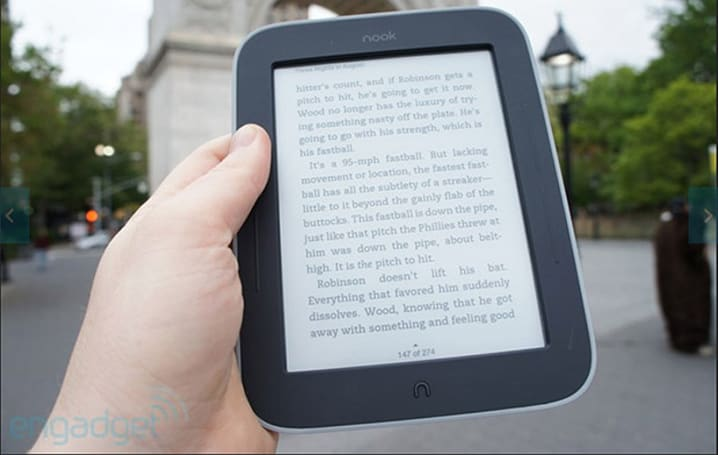 Nook Simple Touch with Glowlight gets UK price cut, drops below £50