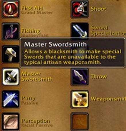 Don't unlearn your blacksmithing weapon specialzation