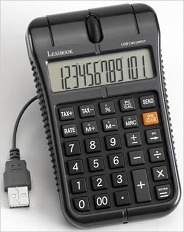USB Mouse Calculator ready to calculate how much money you've wasted