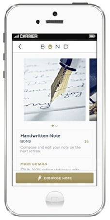 Gift-giving with a personal touch via BOND for iPhone