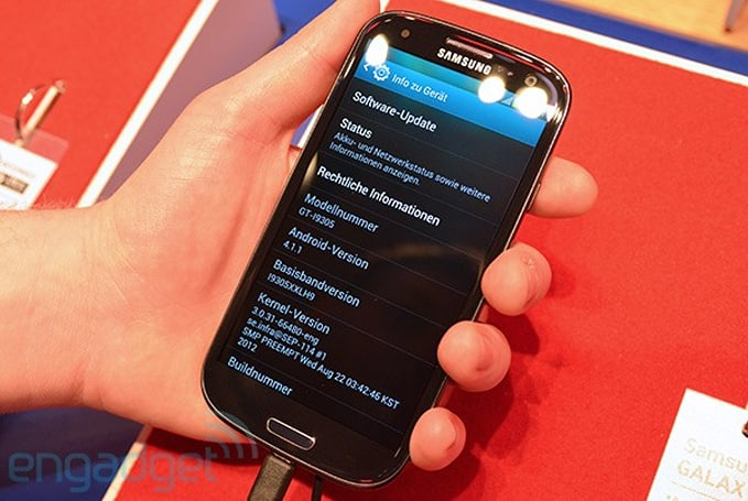 Jelly Bean makes a surprise appearance on Vodafone's Samsung Galaxy S III LTE