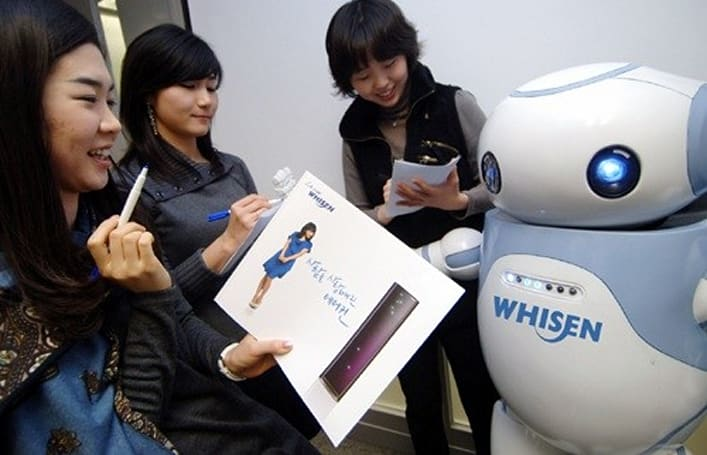 LG's Feeney robot mascot sells air conditioners... with style