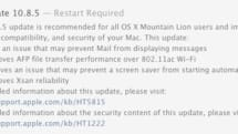Apple releases OS X Mountain Lion 10.8.5