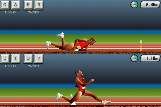 Competitive bumbling now available in two-player QWOP