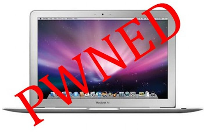 PWN 2 OWN over: MacBook Air gets seized in 2 minutes flat