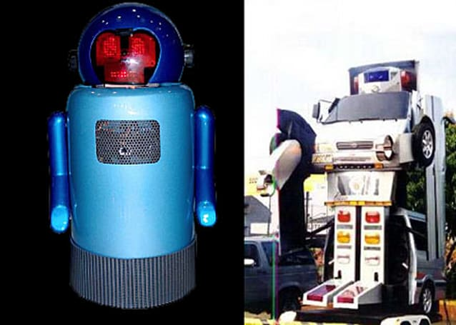 Mike the emotional robot, transforming RoboCar on display in Brazil